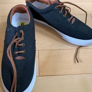 Ralph Lauren canvas sneakers.